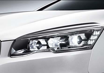 全LED晶耀獅眼大燈、Smart Beam遠近光輔助系統